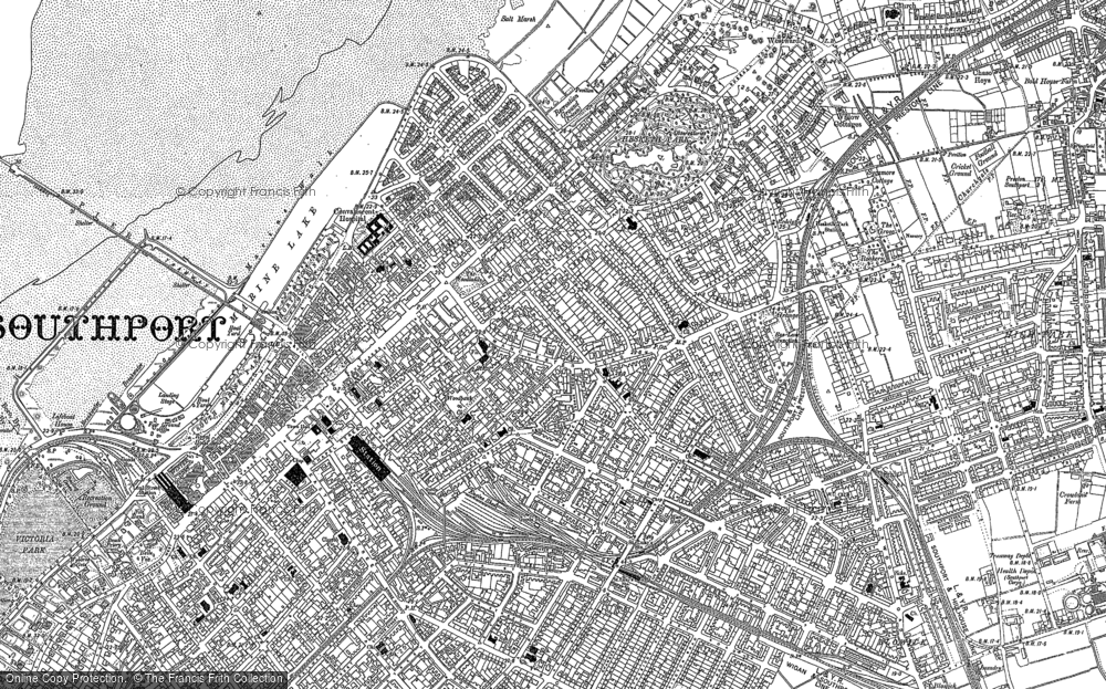 Old Map of Southport, 1892 in 1892