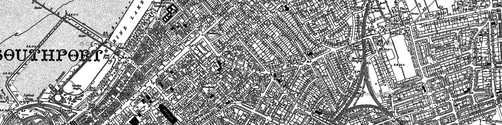 Old map of Southport in 1892