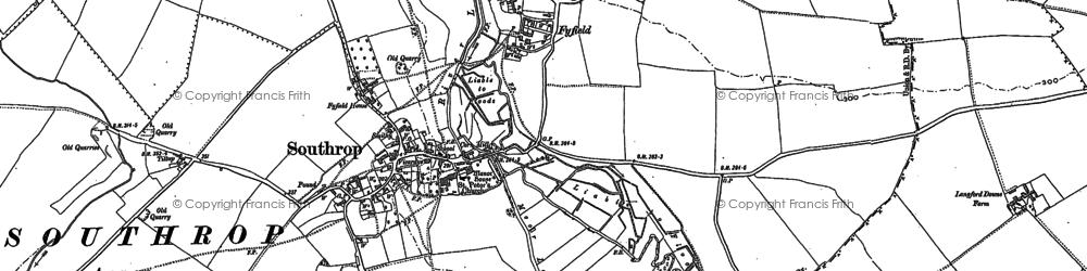 Old map of Tiltup in 1901