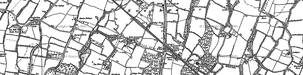 Old map of Woodgetters in 1896