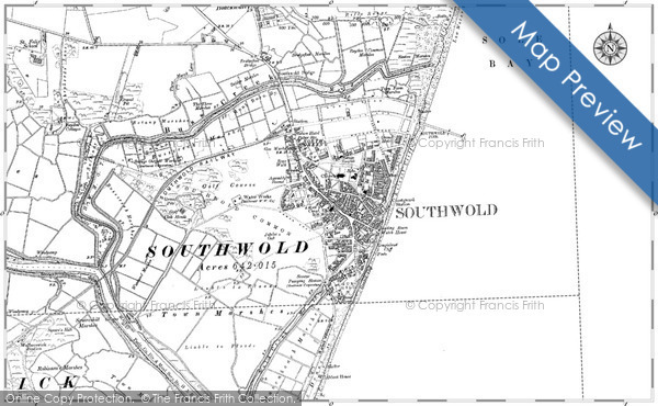 Old Map of Southwold, 1903 in 1903
