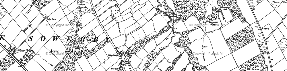 Old map of Whale Gill in 1898