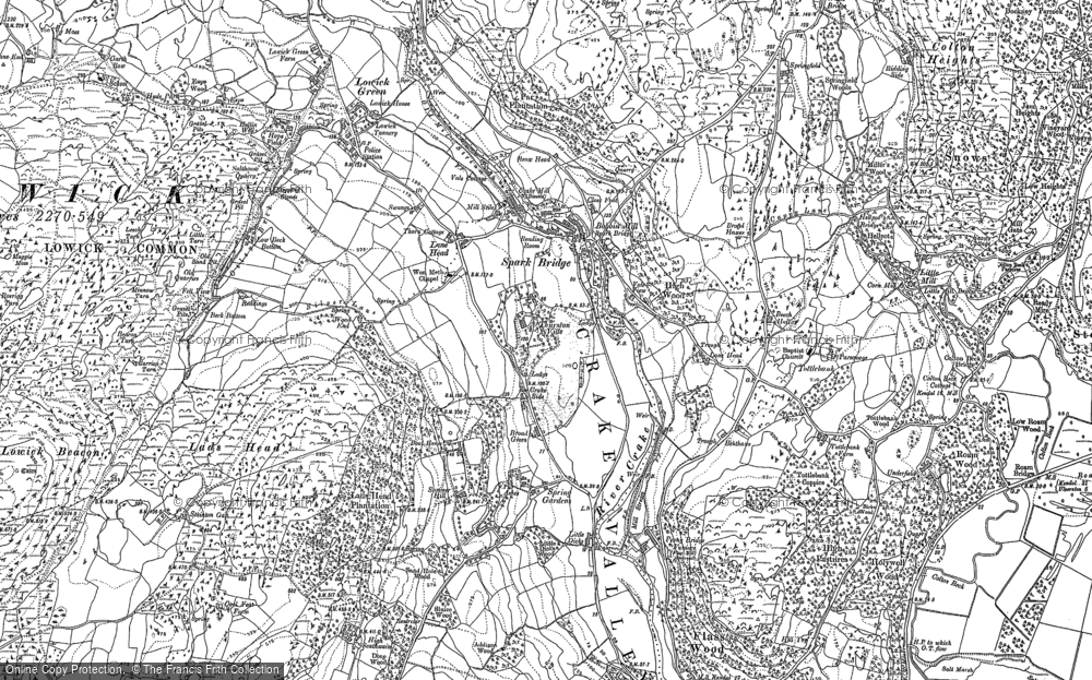 Old Map of Historic Map covering Thurston Ville in 1911