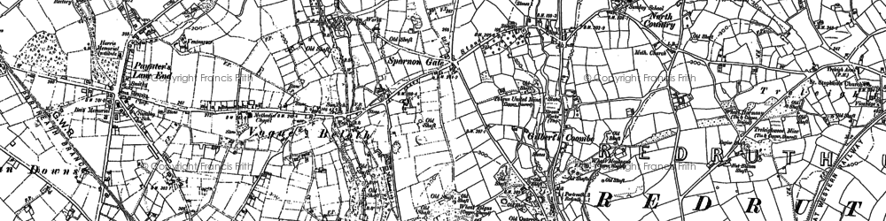 Old map of Sparnon Gate in 1878