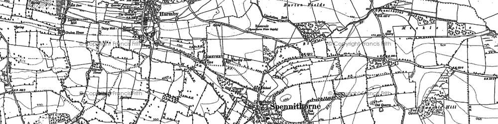 Old map of Spennithorne in 1891