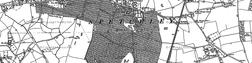 Old map of Withy Wells in 1884