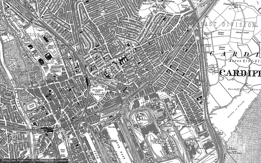Old Map of Splott, 1916 in 1916