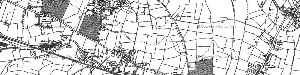 Old map of Spondon in 1881