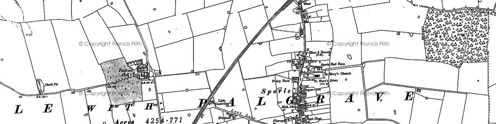 Old map of Wolferton Ho in 1883