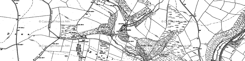 Old map of Willingcott in 1903