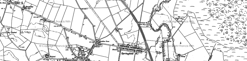 Old map of Westgillsyke in 1900