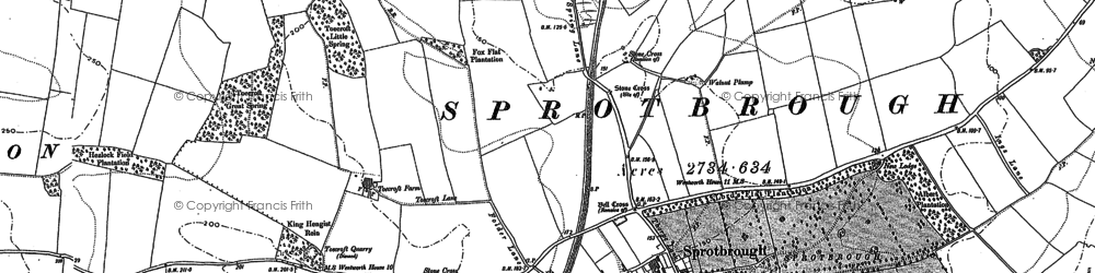 Old map of Sprotbrough in 1901