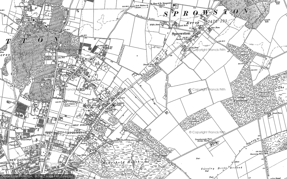 Old Maps of Sprowston Francis Frith