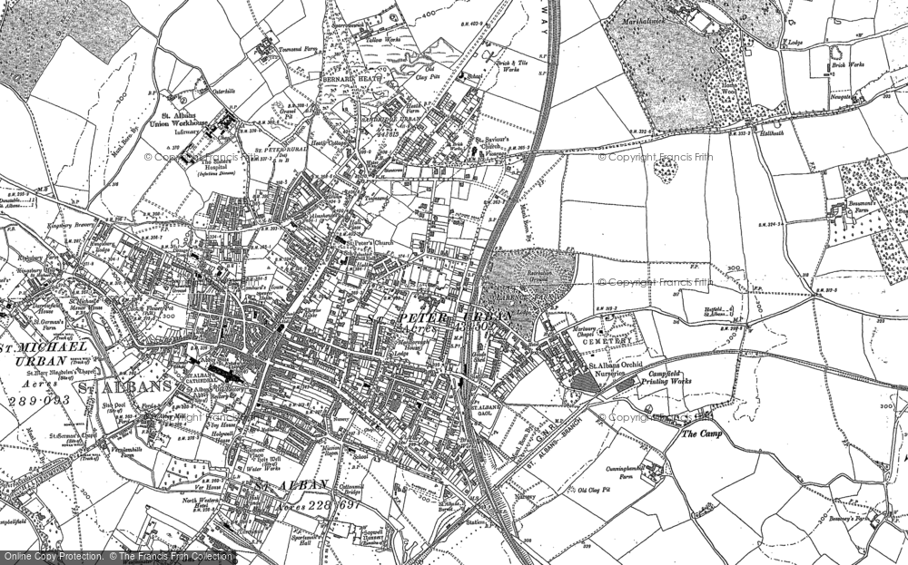 Old Map of Historic Map covering Abbey Sta in 1897