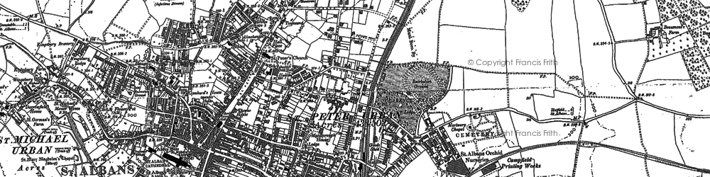 Old map of Abbey Sta in 1897