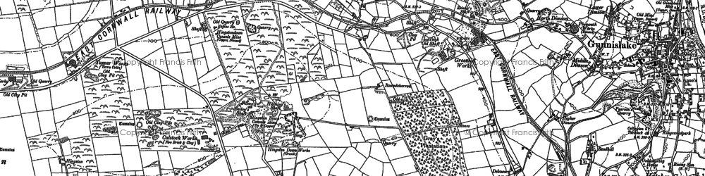 Old map of St Ann's Chapel in 1905