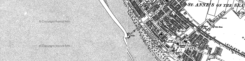 Old map of St Annes in 1891