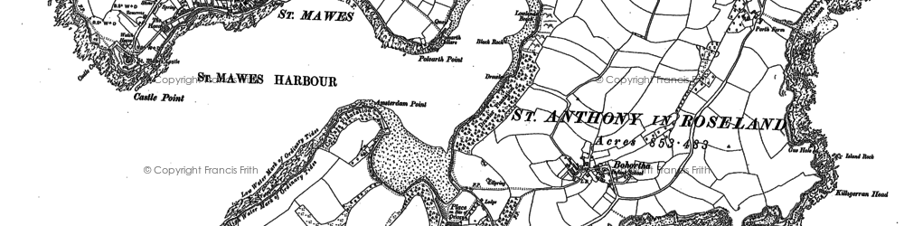 Old map of St Anthony in 1906