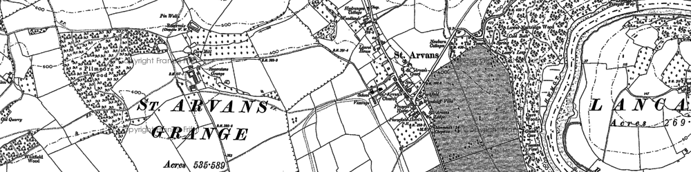 Old map of Wynd Cliff in 1900