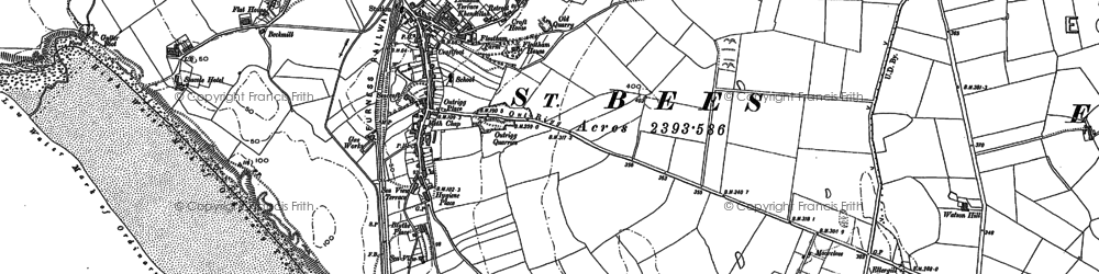 Old map of St Bees in 1923