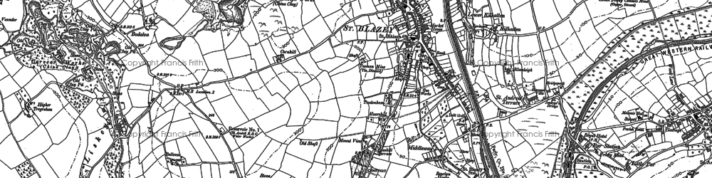 Old map of St Blazey in 1881