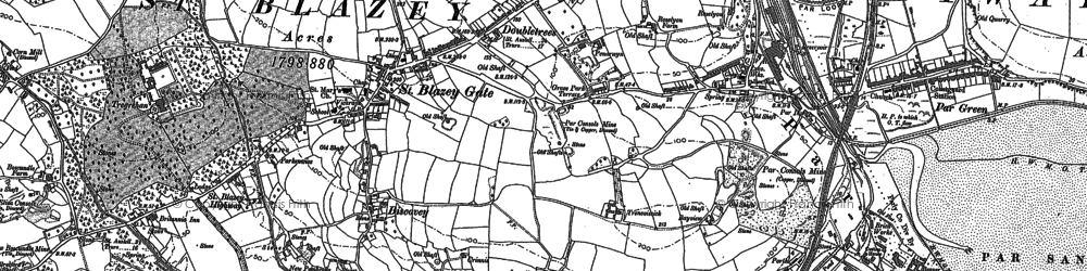 Old map of St Blazey Gate in 1906