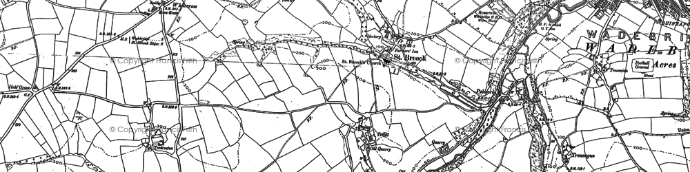 Old map of St Breock in 1880