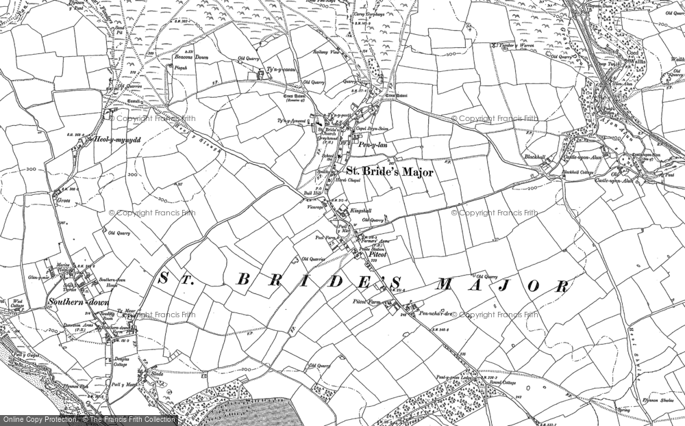 Old Map of St Brides Major, 1897 - 1914 in 1897