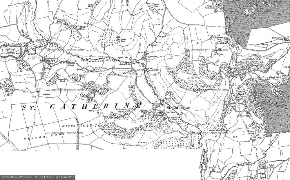 Old Map of Historic Map covering Ashwicke Hall (Sch) in 1902