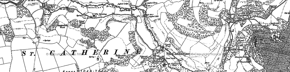 Old map of St Catherine in 1902