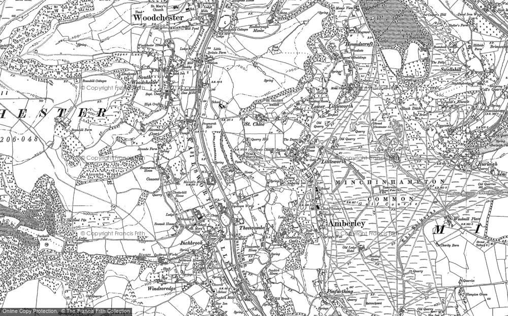 Old Map of Historic Map covering Atcombe Court in 1882