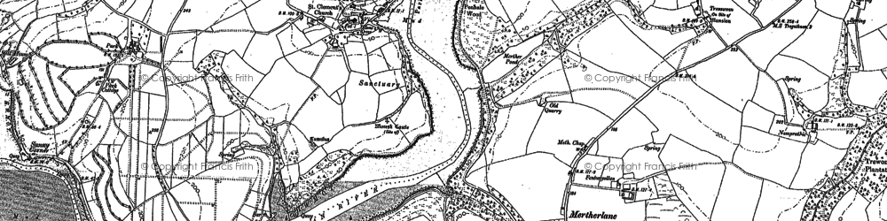 Old map of St Clement in 1879