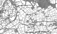 Old Map of St Cross South Elmham, 1903