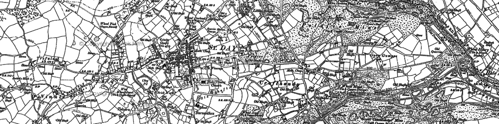 Old map of St Day in 1879
