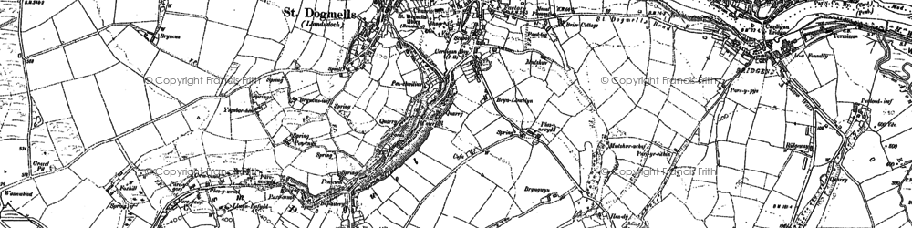 Old map of St Dogmaels in 1904