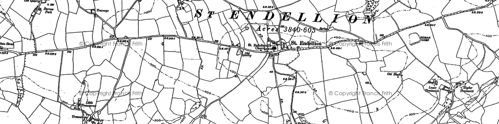 Old map of St Endellion in 1880