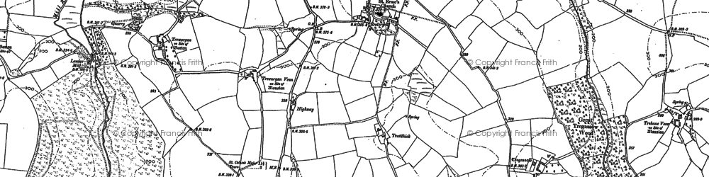 Old map of St Erme in 1879
