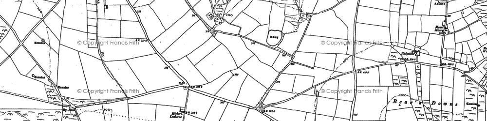 Old map of St Eval in 1880
