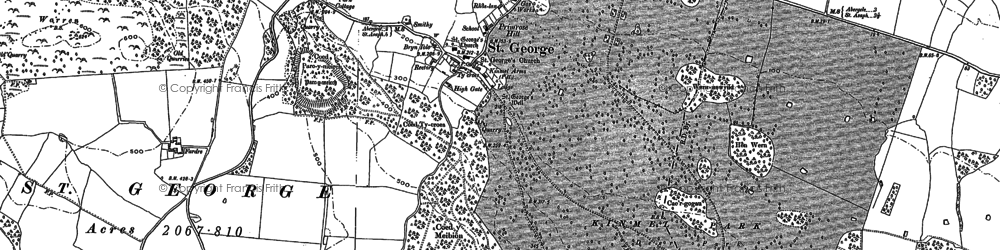 Old map of St George in 1898