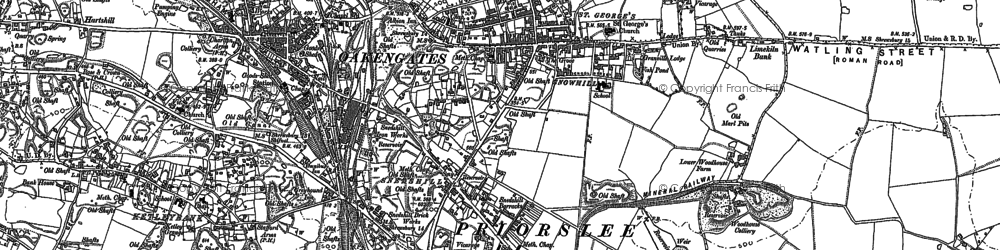 Old map of St George's in 1882