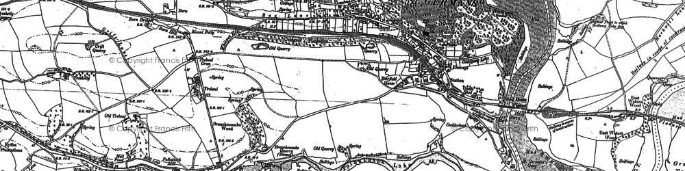 Old map of St Germans in 1883