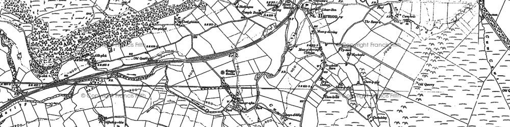 Old map of Lingen in 1887