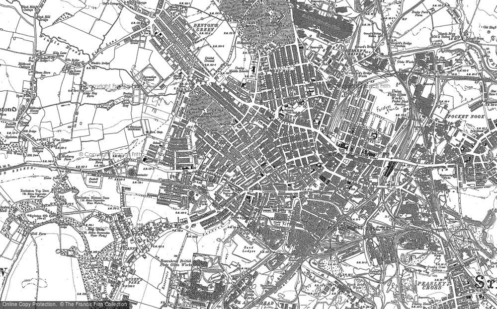 Map of St Helens, 1905