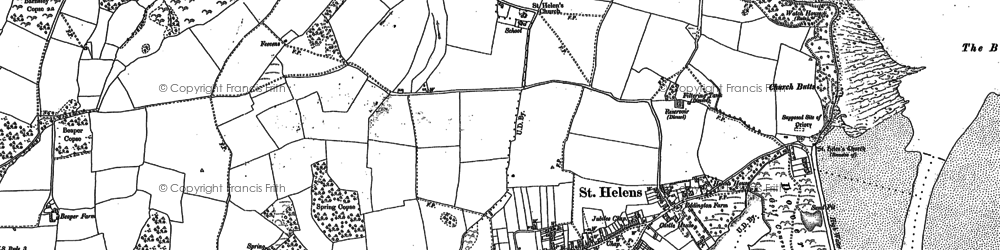 Old map of Whitefield Wood in 1907