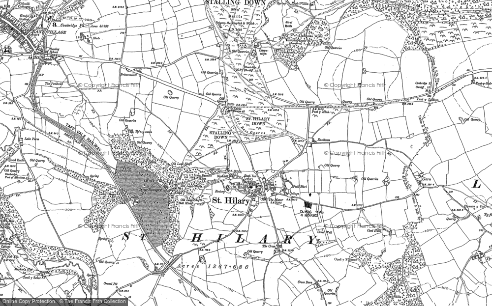 Old Map of St Hilary, 1897 - 1898 in 1897