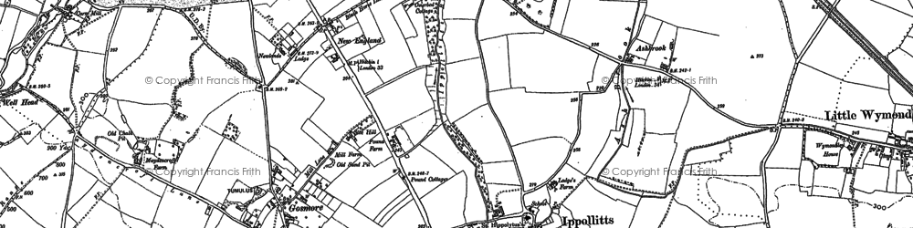 Old map of St Ippolyts in 1897