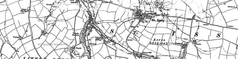 Old map of Mellingey in 1880