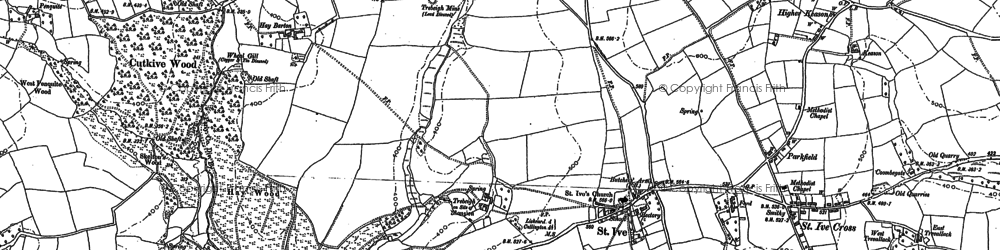 Old map of Parkfield in 1882