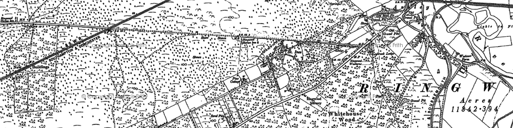 Old map of Avon Heath Country Park in 1908
