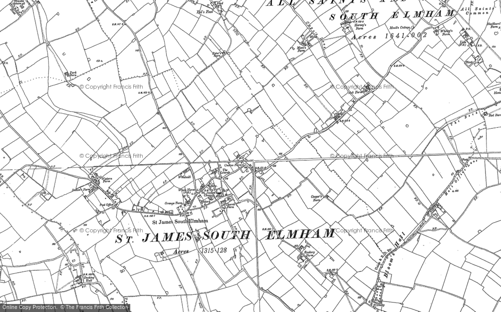 Old Map of St James South Elmham, 1882 - 1903 in 1882